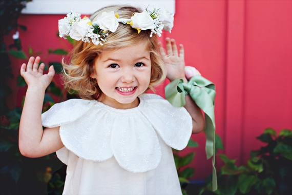 linen dress with collar detail - spring flower girl dresses #wedding