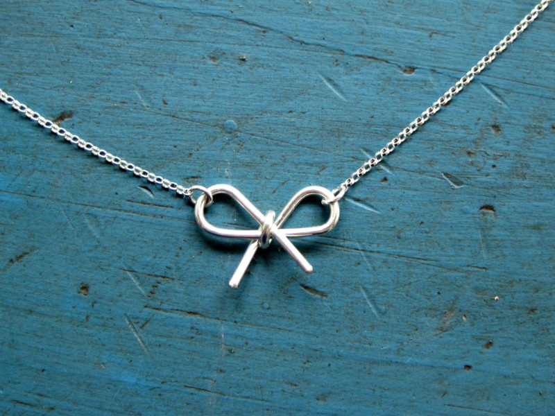 sterling silver bow jewelry etsy find