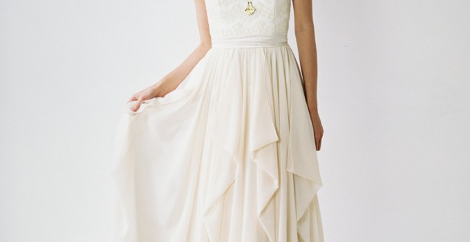 strapless chiffon wedding gown truvelle