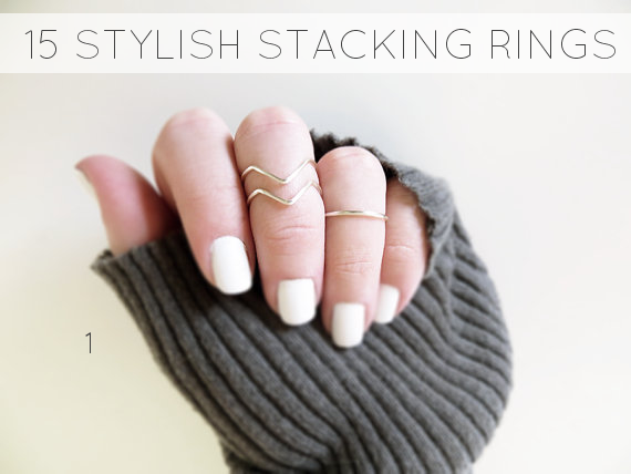 stylish stacking rings