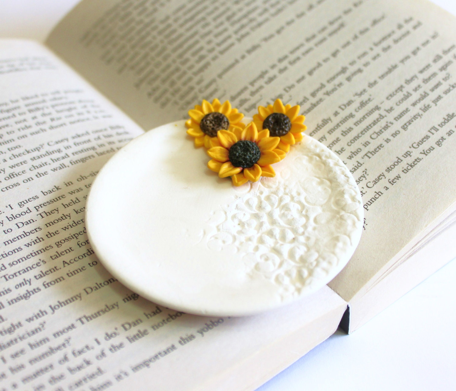 sunflower ring dish by NikushJewelryArt