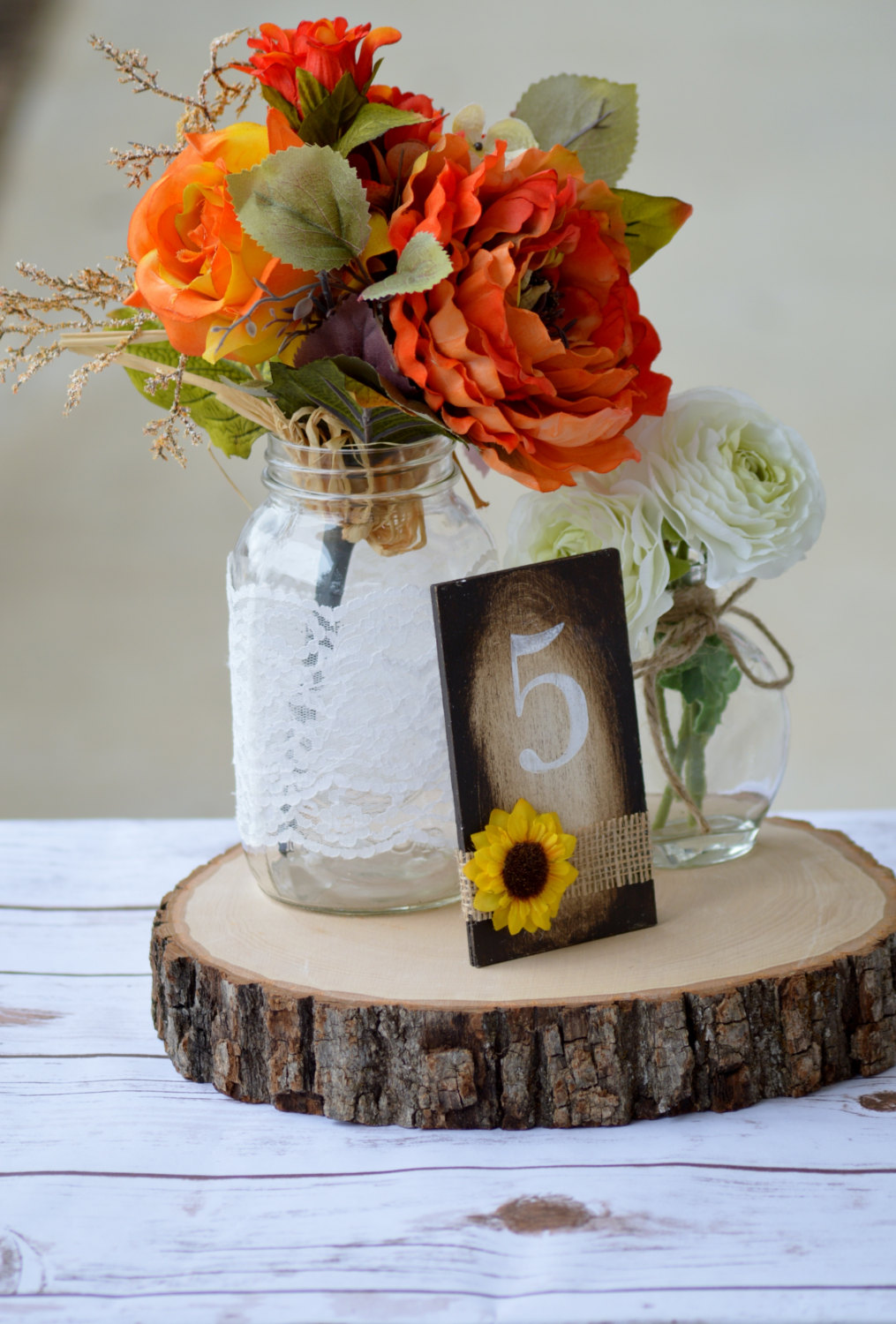 sunflower table numbers by red heart creations
