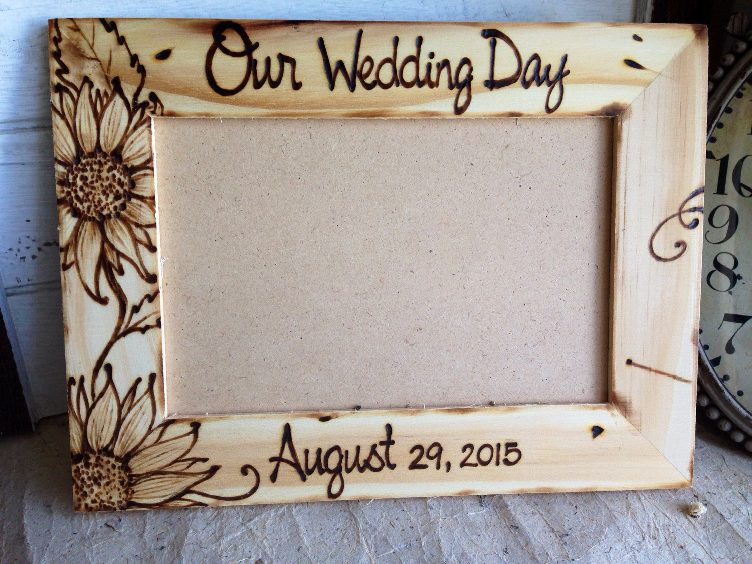 sunflower wedding frame by princewhitaker