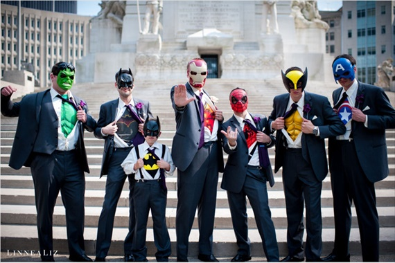 superhero groomsmen linnealiz photography emmaline bride