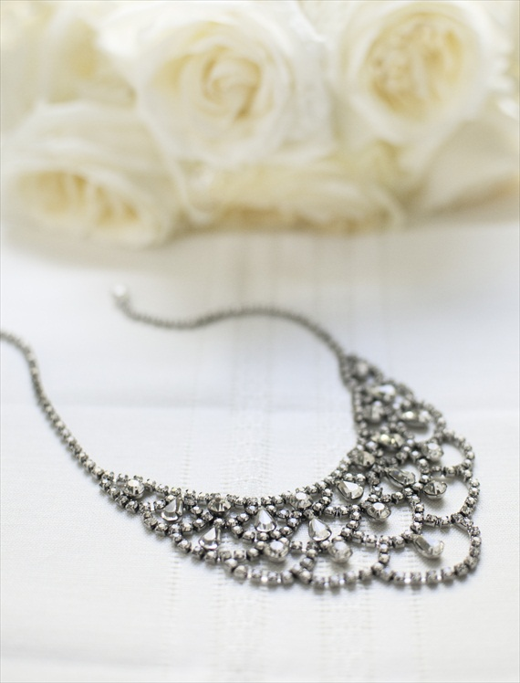 vintage rhinestone necklace | Vintage Wedding Jewelry (Sweet & Spark)