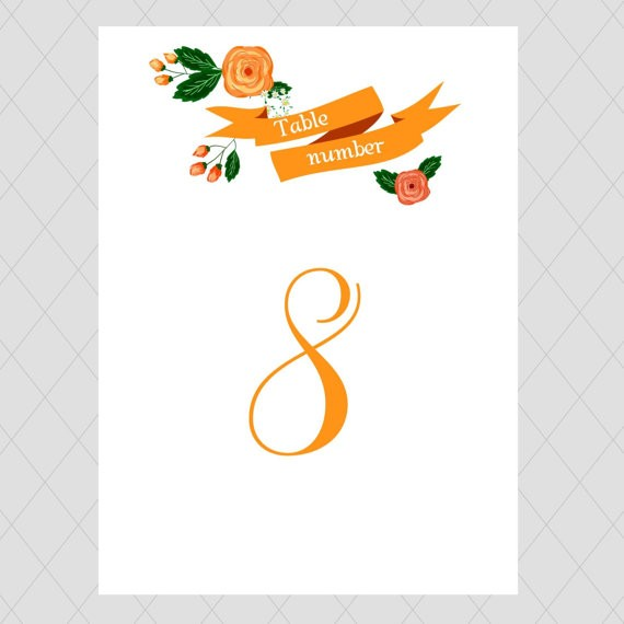 table number | by whimsical prints