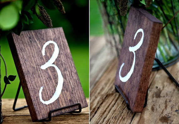place in an easel (via Table Number Mistakes to Avoid)