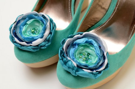 shoe clips - Teal Wedding Accessories from Fallen Sparrow