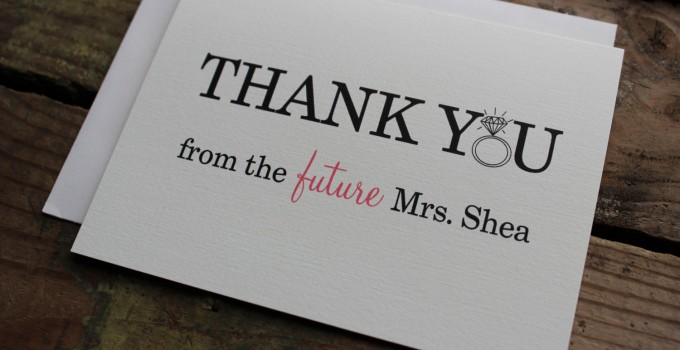 thank you from future mrs cards
