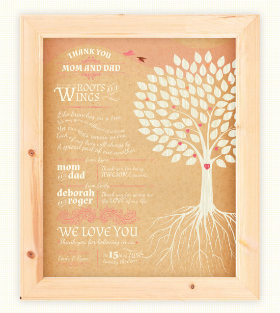 thank you print parents wedding (via Ways to Thank Parents at Your Wedding)
