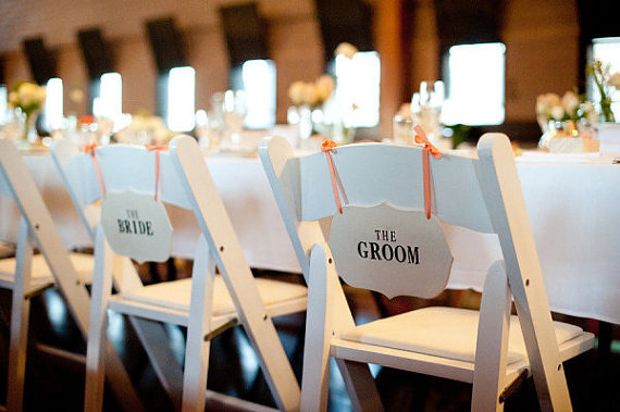 the bride the groom chair | via bride and groom chair signs http://emmalinebride.com/decor/bride-and-groom-chairs/
