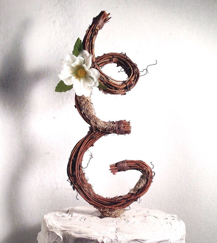 the original twig cake topper by blue ridge engraving   Nature Inspired Wedding Ideas   http://wp.me/p1g0if-x0y