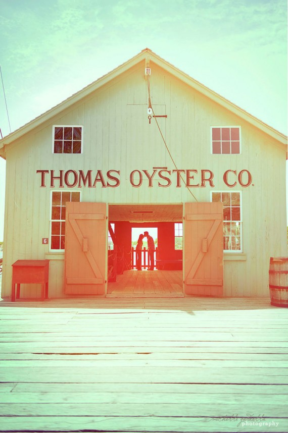 20 Best Engagement Photo Ideas:  Thomas Oyster Co. (by Michelle Gardella)