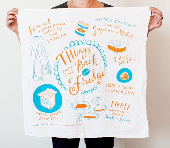 things from the back of the fridge - tea towels for wedding showers