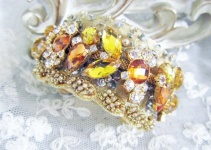 topaz wedding cuff bracelet