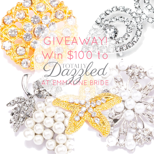 rhinestone wedding brooches giveaway