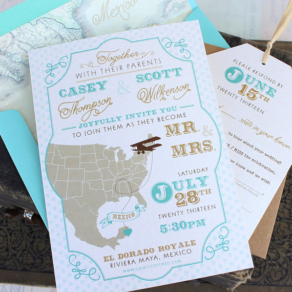 Travel Wedding Invitation by Serendipity Beyond Design