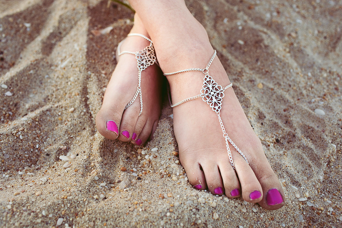 tribal barefoot sandals