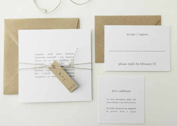 typewriter wedding invitations