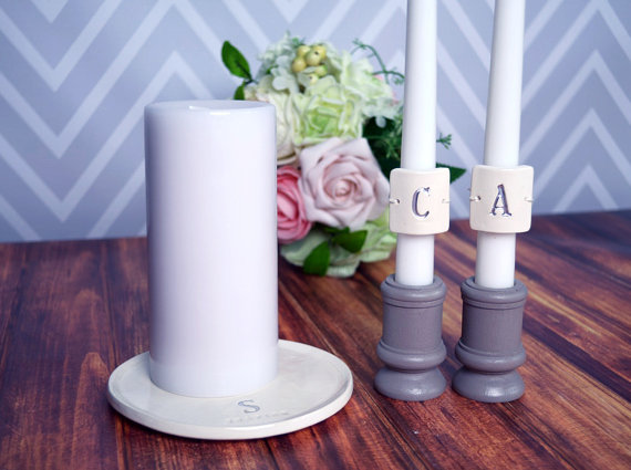 Personalized unity candle set (by Susabella) - Unity Ceremony Ideas width=