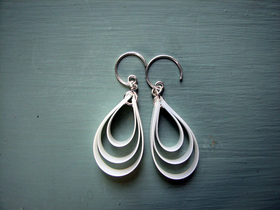 upcycled eco friendly earrings