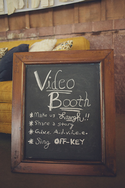wedding video booth sign