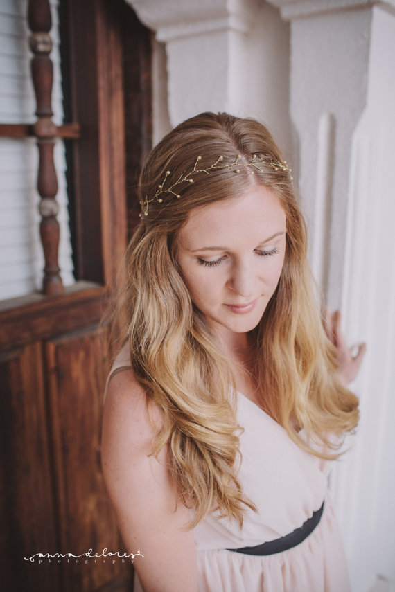 wedding hair crowns + hair wreaths  | acute designs via emmalinebride.com