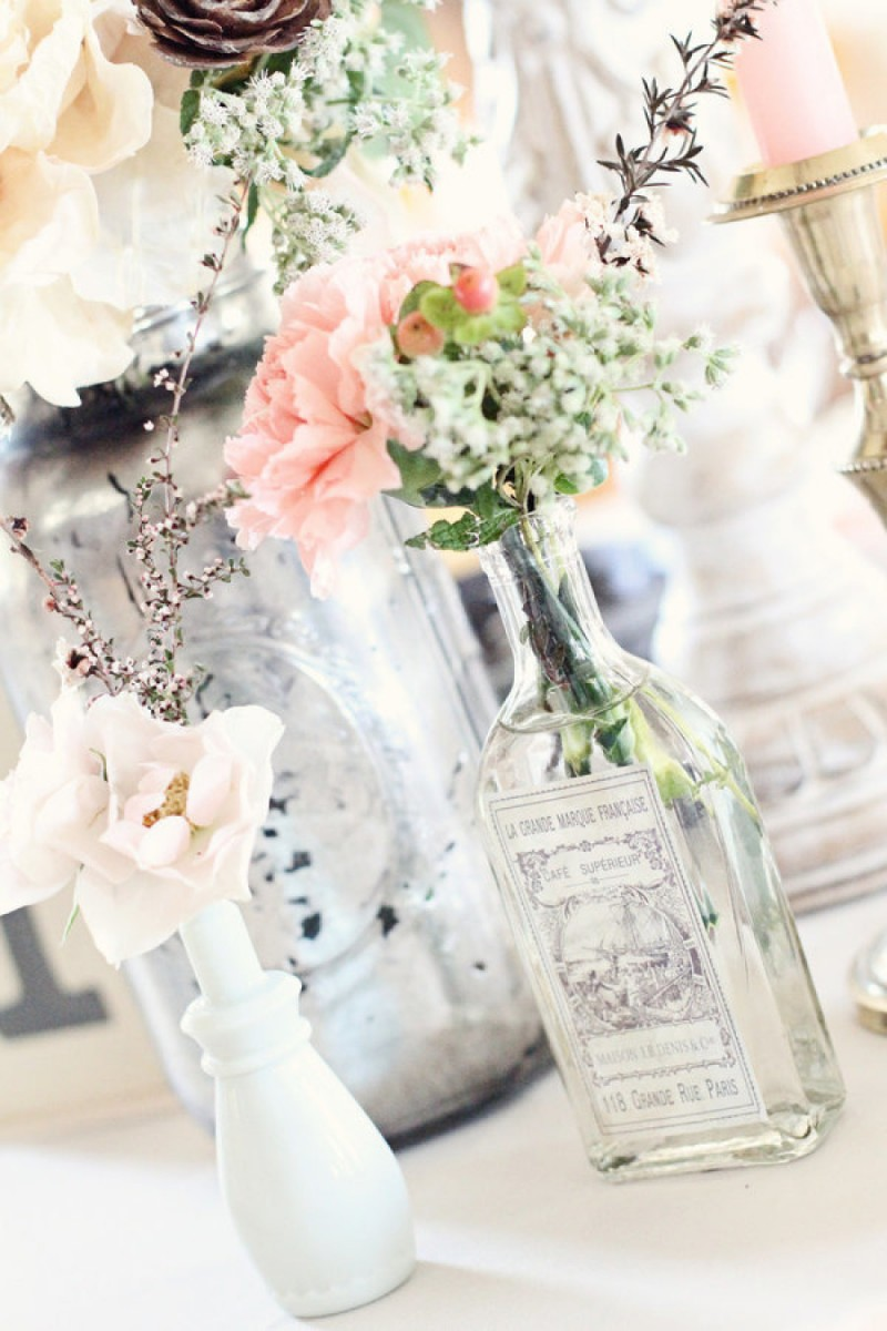 vintage bottles turned vases