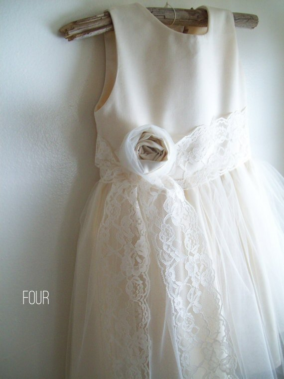 Cotton Flower Girl Dresses (by Olive & Fern via EmmalineBride.com) #handmade #wedding