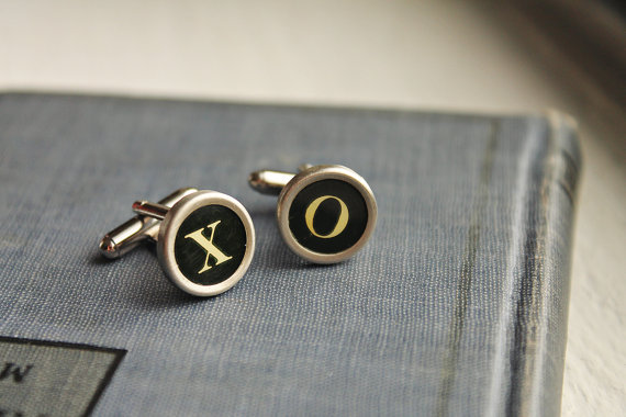 vintage typewriter wedding cuff links
