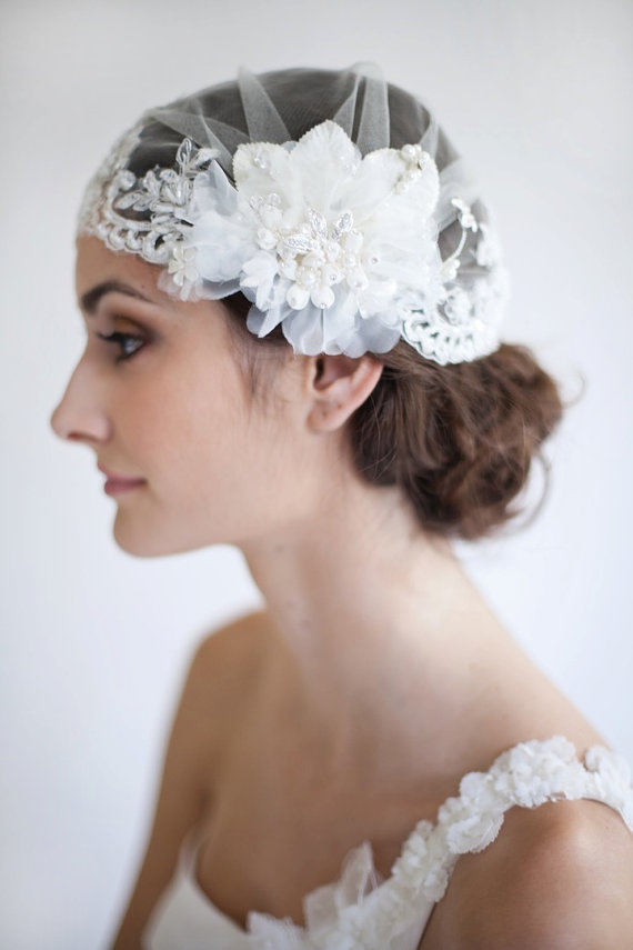 6 Ways to Wear a Veil via EmmalineBride.com (veil by Maria Aparicio)