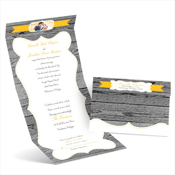 weathered wood - seal and send invitations