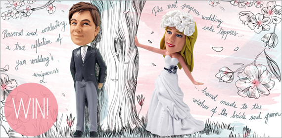 Custom Cake Toppers by Dream Cake Toppers - #handmade #wedding #cake #toppers
