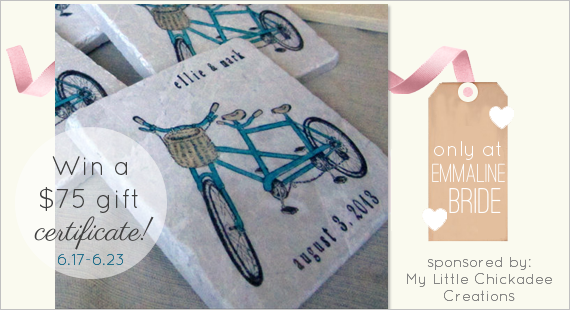 WIN! Coaster Favors for your Wedding (or anything else you love from the shop!) Enter now...