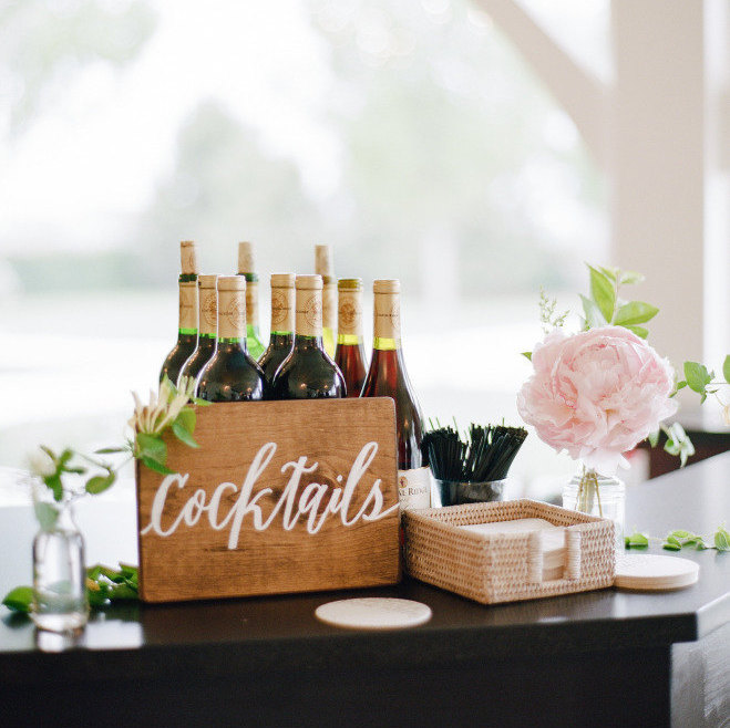wedding cocktails sign | by laura hooper calligraphy