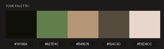 wedding color palette - from photo