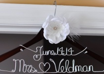 wedding dress hanger mrs