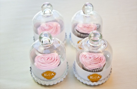 wedding favor containers diy cupcake bell jars