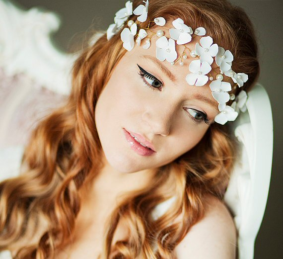 Wedding Halo Headbands & Crowns (headband: alina mart design)