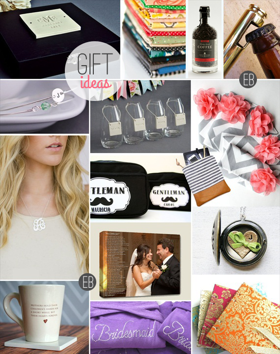 Who Gets a Gift from the Bride and Groom via EmmalineBride.com