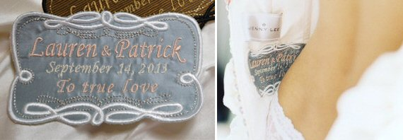 wedding gown label