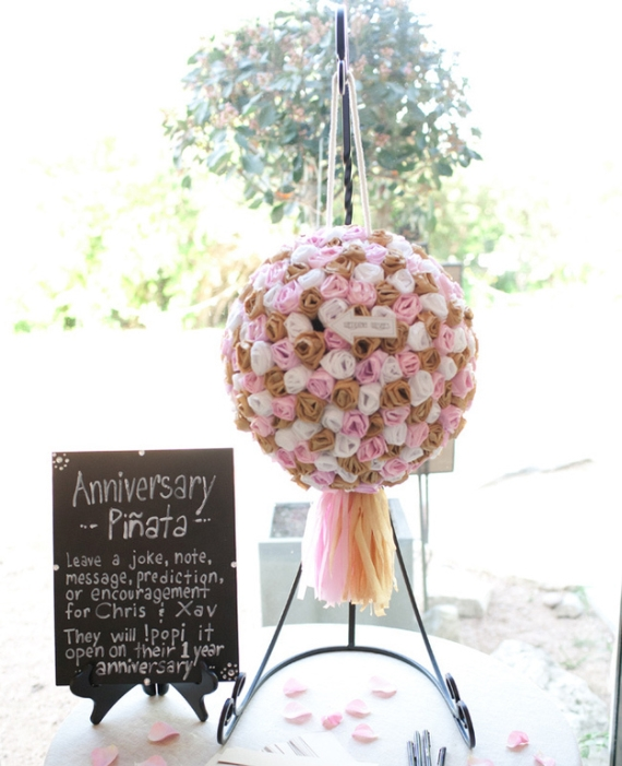 wedding pinata - guest book alternative idea