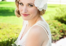 wedding hair flower in white