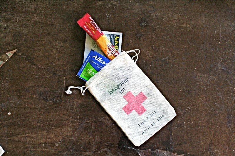diy hangover kit | Best DIY Wedding Projects via http://emmalinebride.com/decor/best-wedding-diy-projects/