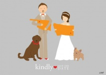 wedding illustrations bride and groom