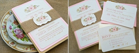 wedding invitation shabby chic - Invitations for Wedding Themes