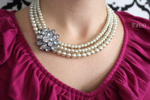 wedding pearl necklace - 3