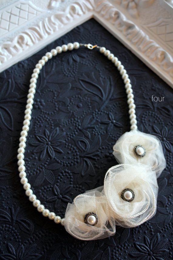 wedding pearl necklace - 4
