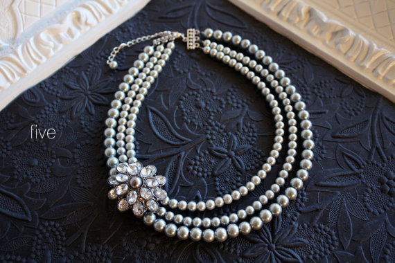 wedding pearl necklace - 5