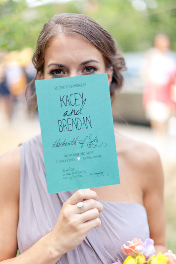wedding programs by hoopla love